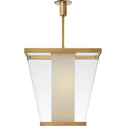 Visual Comfort SC5020AB-WG Eric Cohler Marin 6 Light 21 inch Antique Burnished Brass Foyer Lantern Ceiling Light, Eric Cohler, Medium, White Glass