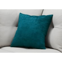 "PILLOW - 18""X 18"" / TURQUOISE BRUSHED VELVET / 1PC"