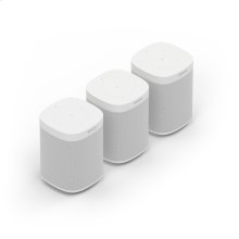 White- A trio of powerful smart speakers for rich sound in up to three rooms.