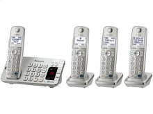 Link2Cell Bluetooth® Cordless Phone with Large Keypad - 4 Handsets - KX-TGE274S