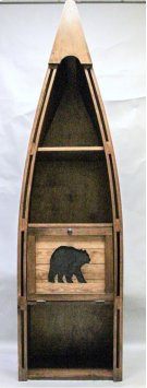 "#102C Canoe Bookshelf with Cutout Bear 23.5""wx16.5""dx83""h Product Image"