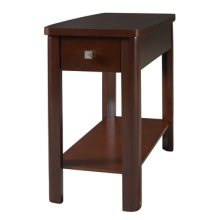 Merlot Rectangle Chairside Table with Drawer