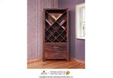 Bookcase & Wine Rack, w/2 drawers