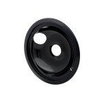 FrigidaireSmart Choice 8'' Black Porcelain Drip Bowl, Fits Specific