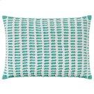 Macrame Pillow, AQUA, 14X20 Product Image