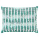Macrame Pillow, AQUA, 14X20 Product Image