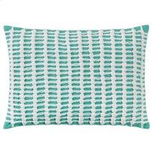 Macrame Pillow, AQUA, 14X20