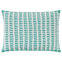 Macrame Pillow, AQUA, 14X20