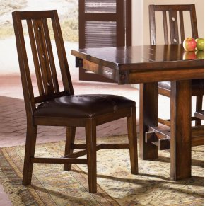Slatback Upholstered Sidechair