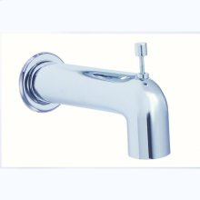 Chrome Parma Wall Mount Tub Spout with Diverter