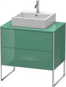 Vanity Unit For Console Floorstanding, Jade High Gloss Lacquer