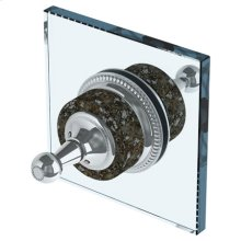 Double Shower Door Knob/ Glass Mount Hook
