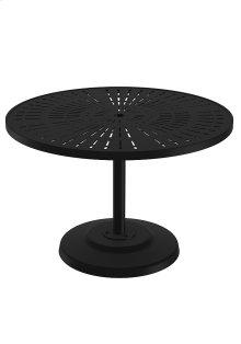 """La'Stratta 42"""" Round KD Pedestal Dining Umbrella Table"""