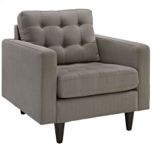 Empress Upholstered Fabric Armchair in Granite