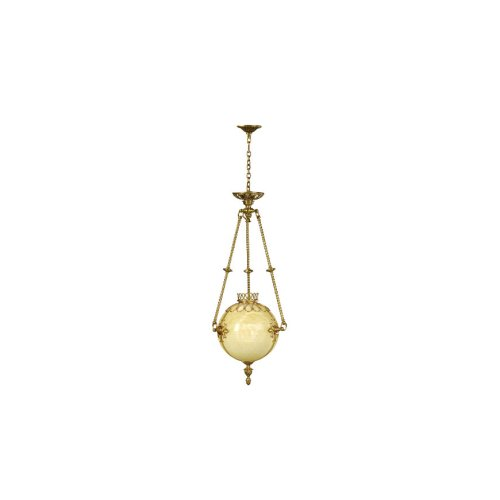 An Onyx and Brass Hall Light / Chandelier