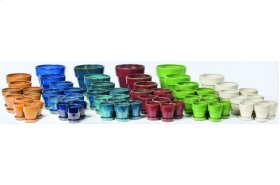 Bijou Petits Pots with Attached Saucer - 64 Piece Assortment