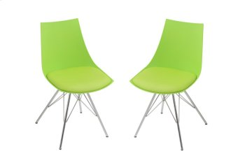 Emerald Home Audrey Dining Chair Green Seat-chrome Base D119chr-32-08 Product Image