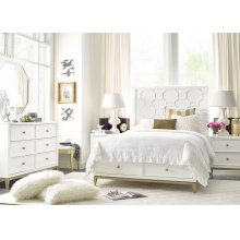 Panel Bed with Storage Footboard Full, 4/6