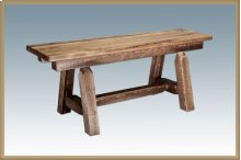 Homestead Small Plank Style Bench - Stained and Lacquered