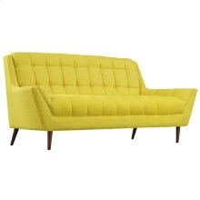 Response Upholstered Fabric Loveseat in Sunny