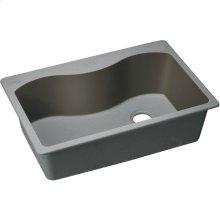 "Elkay Quartz Classic 33"" x 22"" x 9-1/2"", Single Bowl Drop-in Sink, Greystone"
