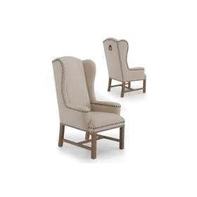 Tower High Back Wing Chair
