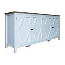 Server, Available in Hampton White or Hampton Grey Finish.