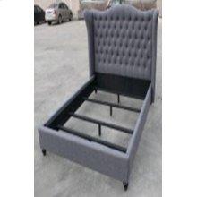 Newburgh Blue Grey Upholstered Queen Bed
