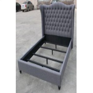 Newburgh Blue Grey Upholstered Queen Bed