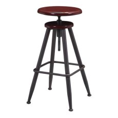 Bog Barstool Distressed Burgundy Product Image