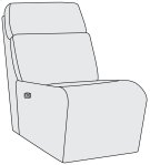 Maddux Power Motion Armless Chair Product Image