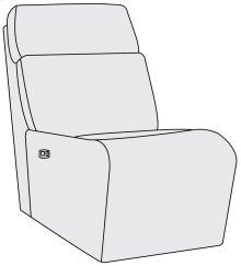 Maddux Power Motion Armless Chair