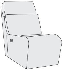 Maddux Power Motion Armless Chair