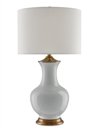 Lilou Table Lamp, White - 31.5h