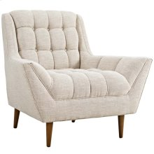 Response Upholstered Fabric Armchair in Beige