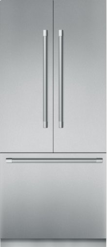 36 - Inch Pre-Assembled Built-in Bottom-Freezer with Professional Handles