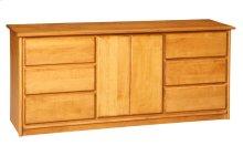 Contemporary 6 Drawer/2door Dresser