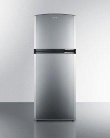 "Counter Depth Frost-free Refrigerator-freezer With Stainless Steel Doors, Platinum Cabinet, 26"" Footprint, and Left Hand Door Swing"