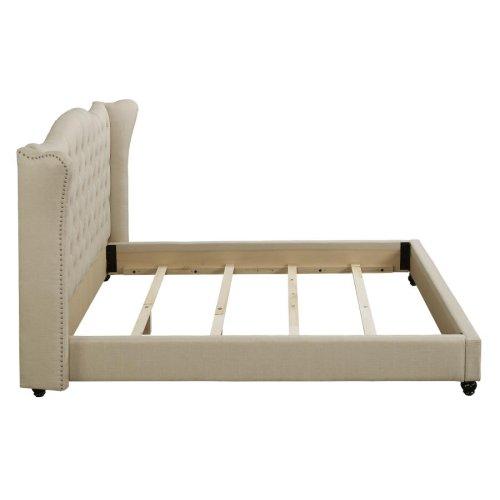 Coronado Beige Upholstered King Bed