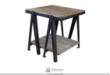 End Table - Iron structure w/wooden shelves