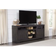 64 Inch Console - Scorched Pine Finish