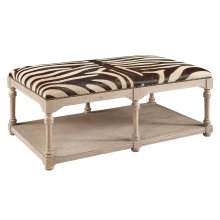Large Zebra Cocktail Ottoman