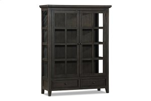 Tuscan Retreat® Display Cabinet 2 Doors 2 Drawers With Clear Glass - Weathered Gray