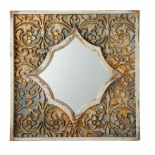 Carved Floral Wall Mirror.