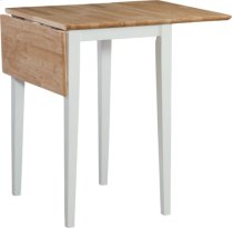 """22"""" Dropleaf table Natural & White Product Image"""