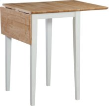 """22"""" Dropleaf table Natural & White"""
