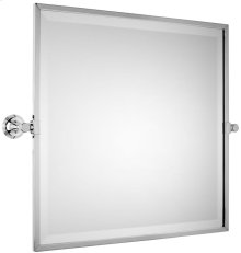 Brushed Gold Unlacquered Tilting, framed bevelled mirror