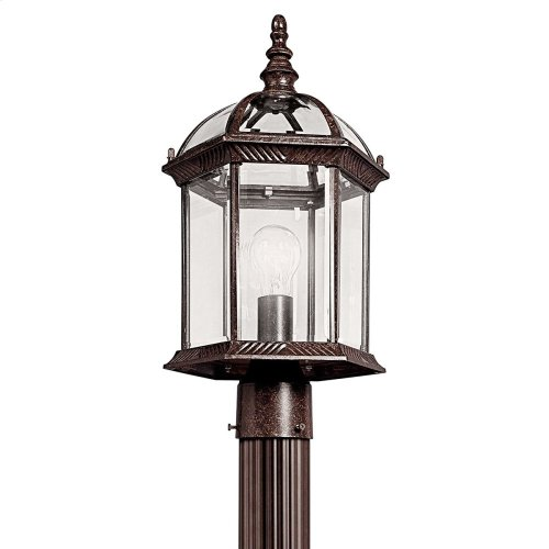 Barrie 1 Light Post Mount with LED Bulbs Tannery Bronze