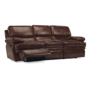 FLEXSTEELHOMEDylan Leather Reclining Sofa without Chaise Footrests