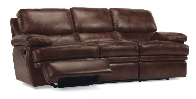 112762 in by Flexsteel in Vestal, NY - Dylan Leather Reclining Sofa ...